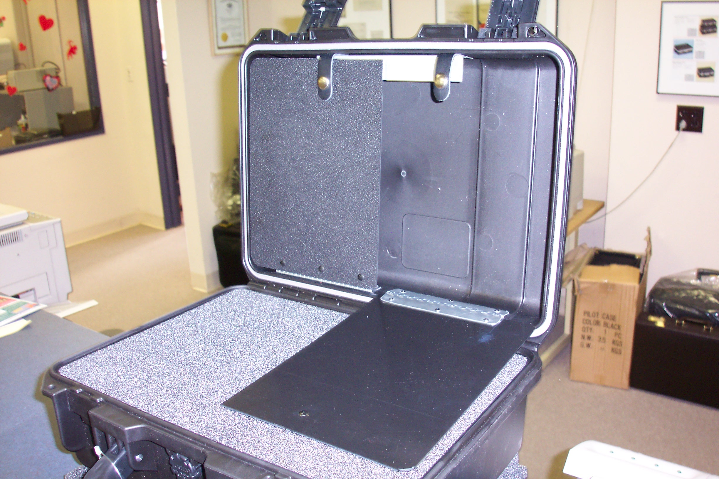 carrying case with custom foam interior